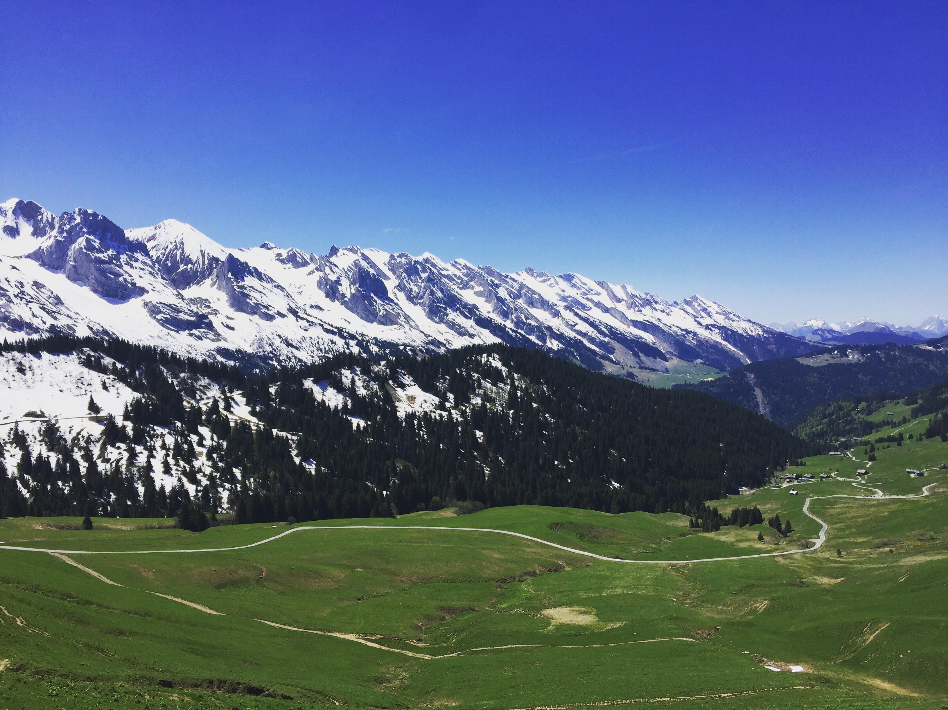 View of the Aravis Mountains from the Red Lands 1780m